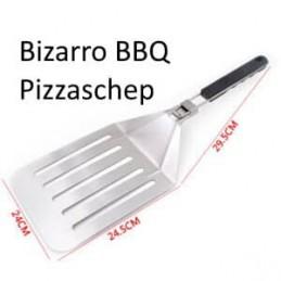 Bizarro BBQ pizzaschep RVS